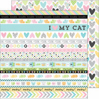 Doodlebug Design - Kitten Smitten Collection - 12 x 12 Double Sided Paper - Calico Crush
