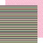 Doodlebug Design - Kitten Smitten Collection - 12 x 12 Double Sided Paper - Licorice Lane