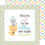 Doodlebug Design - Kitten Smitten Collection - 12 x 12 Double Sided Paper - Balls of Yarn