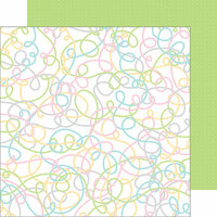 Doodlebug Design - Kitten Smitten Collection - 12 x 12 Double Sided Paper - Yards of Yarn