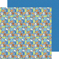Doodlebug Design - Puppy Love Collection - 12 x 12 Double Sided Paper - Puppy Pals