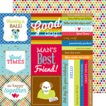 Doodlebug Design - Puppy Love Collection - 12 x 12 Double Sided Paper - See Spot Run