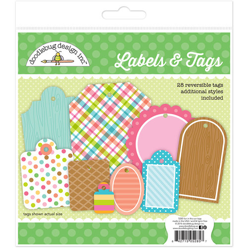 Doodlebug Design - Fun in the Sun Collection - Labels and Tags