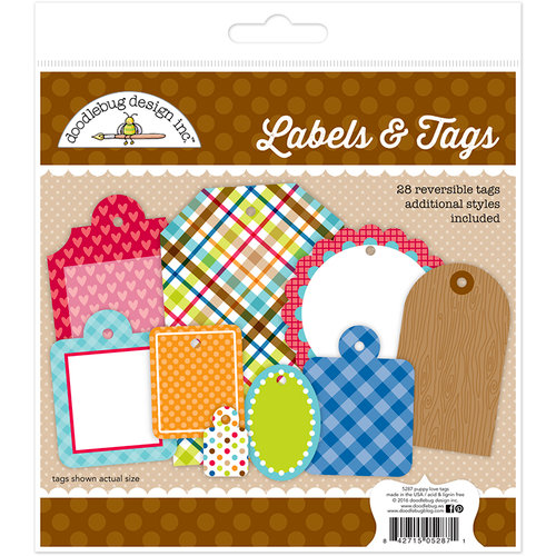 Doodlebug Design - Puppy Love Collection - Labels and Tags