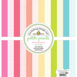Doodlebug Design - Fun in the Sun Collection - 12 x 12 Paper Pack - Swiss Dot Petite Print Assortment
