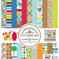 Doodlebug Design - Puppy Love Collection - 12 x 12 Paper Pack