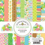Doodlebug Design - Fun in the Sun Collection - 6 x 6 Paper Pad