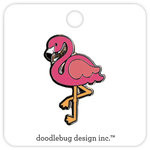 Doodlebug Design - Fun in the Sun Collection - Collectible Pins - Pink Flamingo