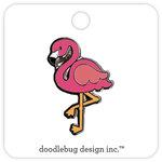 Doodlebug Design - Fun in the Sun Collection - Collectible Pins - Pink Flamingo