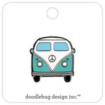 Doodlebug Design - Fun in the Sun Collection - Collectible Pins - Beach Bus