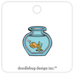 Doodlebug Design - Kitten Smitten Collection - Collectible Pins - Goldie
