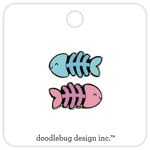 Doodlebug Design - Kitten Smitten Collection - Collectible Pins - Fishy Bones