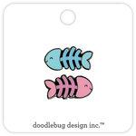 Doodlebug Design - Kitten Smitten Collection - Collectible Pins - Fishy Bones