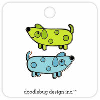 Doodlebug Design - Puppy Love Collection - Collectible Pins - Weenies