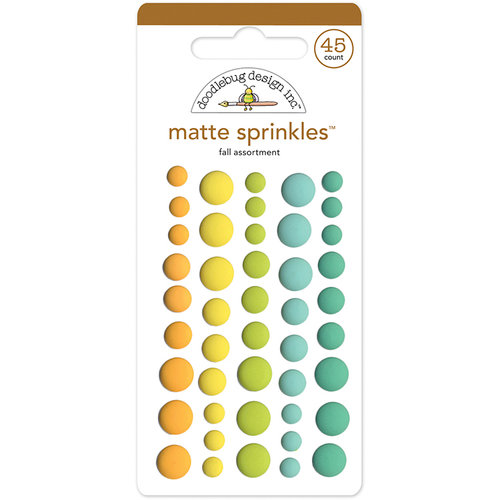 Doodlebug Design - Flea Market Collection - Matte Sprinkles - Self Adhesive Enamel Dots - Fall Assortment