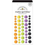 Doodlebug Design - Boos and Brews Collection - Halloween - Matte Sprinkles - Self Adhesive Enamel Dots - Halloween Assortment