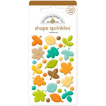 Doodlebug Design - Flea Market Collection - Sprinkles - Self Adhesive Enamel Shapes - Fall Leaves