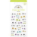 Doodlebug Design - Boos and Brews Collection - Halloween - Sprinkles - Self Adhesive Enamel Shapes - Eerie Eyes