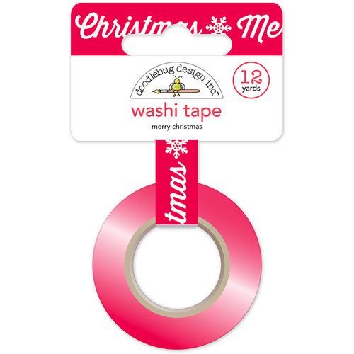Doodlebug Design - Here Comes Santa Claus Collection - Christmas - Washi Tape - Merry Christmas