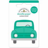 Doodlebug Design - Flea Market Collection - Doodle-Pops - 3 Dimensional Cardstock Stickers - Pickup Truck