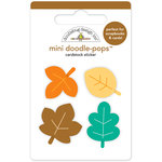 Doodlebug Design - Flea Market Collection - Doodle-Pops - 3 Dimensional Cardstock Stickers - Autumn Leaves Mini