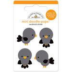 Doodlebug Design - Flea Market Collection - Doodle-Pops - 3 Dimensional Cardstock Stickers - Country Crows Mini