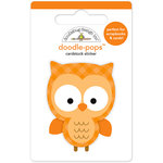Doodlebug Design - Flea Market Collection - Doodle-Pops - 3 Dimensional Cardstock Stickers - Night Owl