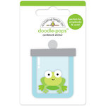 Doodlebug Design - Boos and Brews Collection - Halloween - Doodle-Pops - 3 Dimensional Cardstock Stickers - Ribbit