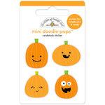 Doodlebug Design - Boos and Brews Collection - Halloween - Doodle-Pops - 3 Dimensional Cardstock Stickers - Pumpkin Pals