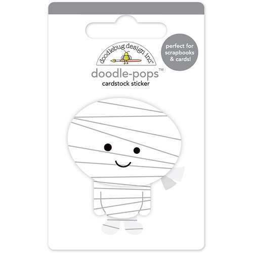Doodlebug Design - Boos and Brews Collection - Halloween - Doodle-Pops - 3 Dimensional Cardstock Stickers - Mini Mummy