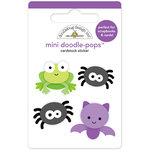 Doodlebug Design - Boos and Brews Collection - Halloween - Doodle-Pops - 3 Dimensional Cardstock Stickers - Cute Critters Mini