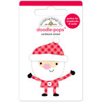 Doodlebug Design - Here Comes Santa Claus Collection - Christmas - Doodle-Pops - 3 Dimensional Cardstock Stickers - Ho Ho Ho