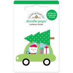 Doodlebug Design - Here Comes Santa Claus Collection - Christmas - Doodle-Pops - 3 Dimensional Cardstock Stickers - Special Delivery