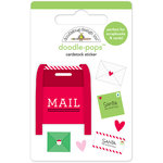 Doodlebug Design - Here Comes Santa Claus Collection - Christmas - Doodle-Pops - 3 Dimensional Cardstock Stickers - Dear Santa