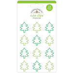 Doodlebug Design - Here Comes Santa Claus Collection - Christmas - Cute Clips - Christmas Trees