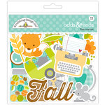 Doodlebug Design - Flea Market Collection - Odds and Ends - Die Cut Cardstock Pieces