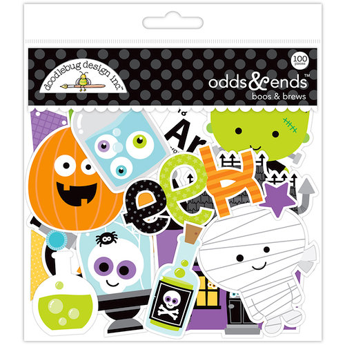 Doodlebug Design - Boos and Brews Collection - Halloween - Odds and Ends - Die Cut Cardstock Pieces