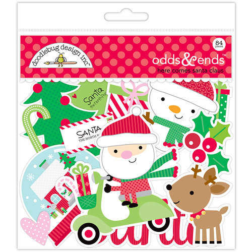 Doodlebug Design - Here Comes Santa Claus Collection - Christmas - Odds and Ends - Die Cut Cardstock Pieces