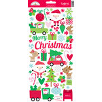 Doodlebug Design - Here Comes Santa Claus Collection - Christmas - Cardstock Stickers - Icons