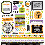 Doodlebug Design - Boos and Brews Collection - Halloween - 12 x 12 Cardstock Stickers - This and That