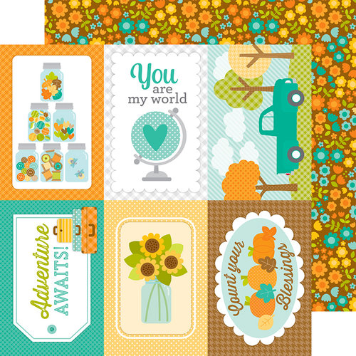 Doodlebug Design - Flea Market Collection - 12 x 12 Double Sided Paper - Fall Bunch