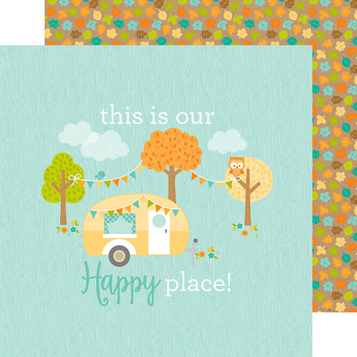 Doodlebug Design - Flea Market Collection - 12 x 12 Double Sided Paper - Our Happy Place