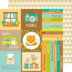 Doodlebug Design - Flea Market Collection - 12 x 12 Double Sided Paper - Vintage Type