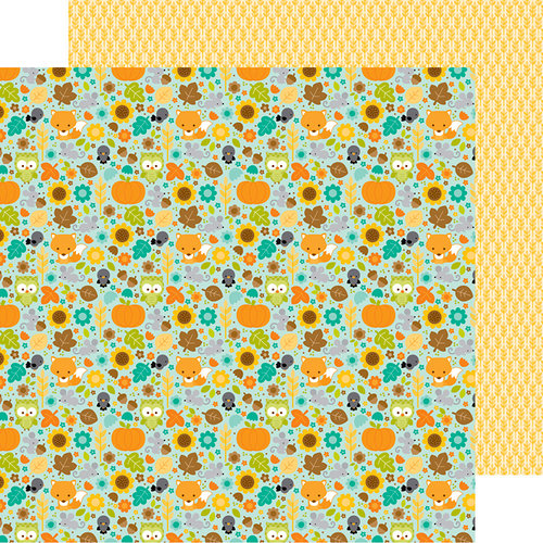 Doodlebug Design - Flea Market Collection - 12 x 12 Double Sided Paper - Country Critters