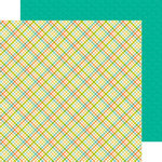 Doodlebug Design - Flea Market Collection - 12 x 12 Double Sided Paper - Garden Plaid