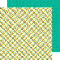 Doodlebug Design - Flea Market Collection - 12 x 12 Double Sided Paper - Garden Plaid