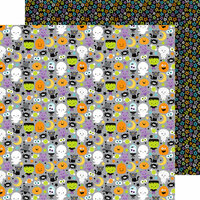 Doodlebug Design - Boos and Brews Collection - Halloween - 12 x 12 Double Sided Paper - Boo and Crew