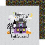 Doodlebug Design - Boos and Brews Collection - Halloween - 12 x 12 Double Sided Paper - Midnight Magic
