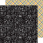 Doodlebug Design - Boos and Brews Collection - Halloween - 12 x 12 Double Sided Paper - Weird Science
