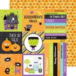 Doodlebug Design - Boos and Brews Collection - Halloween - 12 x 12 Double Sided Paper - Jolly Jack-O-Lanterns